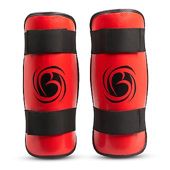 Bytomic Performer Shin Guards Rouge/Noir