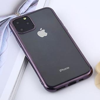For iPhone 11 Pro Case, Clear Protective Back Cover, Purple