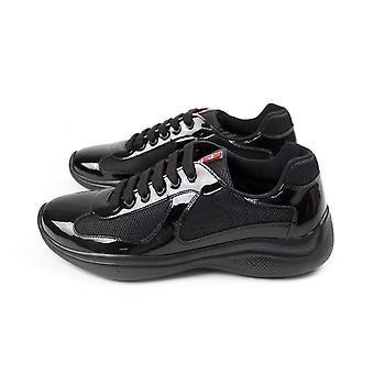 Prada Vernice Bike America Cup Sneakers Noir