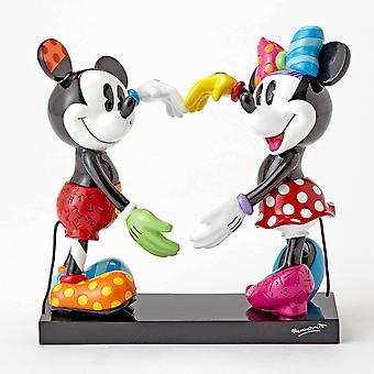 Disney by britto - mickey & minnie heart large figurine