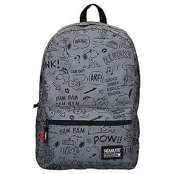 Peanuts Snoopy Comic Full of Risks Grey Backpack