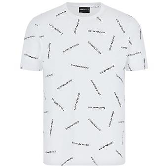 Armani Crew Neck Repeat Logo T-Shirt