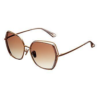 بيرثا ريمي النظارات الشمسية المستقطبة - الذهب / براون