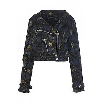 Banned Apparel Slither Crop Biker Jacket