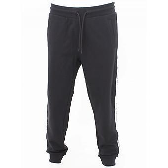 Emporio Armani Taped Seam Logo Sweat Pants - Black