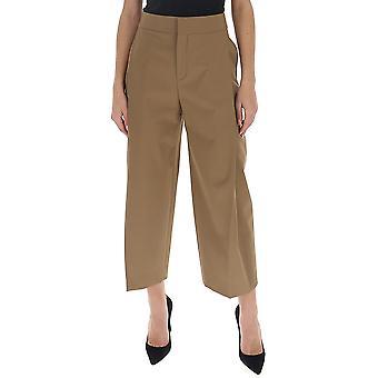 Chloé Chc20spa2106321t Women's Beige Cotton Pants