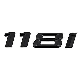 Gloss Black BMW 118i Car Badge Emblem Model Numbers Letters For 1 Series E81 E82 E87 E88 F20 F21 F52 F40