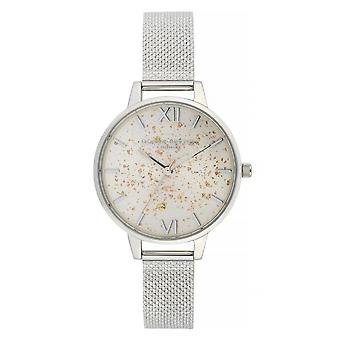Olivia Burton Watches Ob16gd14 Celestial Silver Boucle Mesh Watch