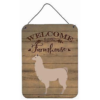 Carolines Treasures  CK6860DS1216 Llama Welcome Wall or Door Hanging Prints