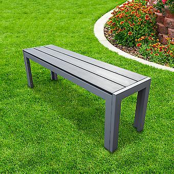 Panca da giardino outdoor In poliwood Grey con telaio in alluminio - Resistente alle intemperie