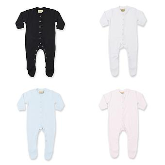 Larkwood Baby Unisex Plain Long Sleeved Sleepsuit