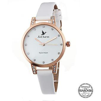 Bekijk so charm horloges MF363-BLANC - Dameshorloge
