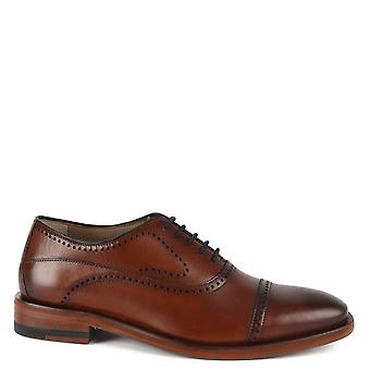 Oliver Sweeney Men's Mallory Tan Leather Oxford Shoe