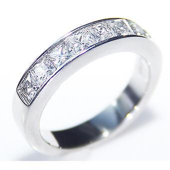 Ah! Schmuck classy simulierte Diamanten Prinzessin geschnitten Band.