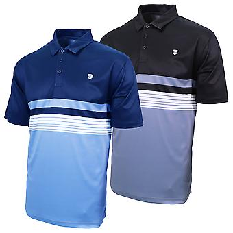 Island Green Mens 2020 IGTS1944 Chest Print Wicking Golf Polo Shirt