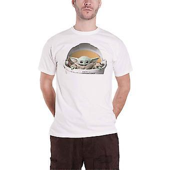 マンダロリアンTシャツ チャイルドポッドベイビーヨーダ公式スターウォーズメンズホワイト