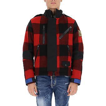 Griffin Jw1906b Uomo's Giacca Outerwear lana nera/rossa