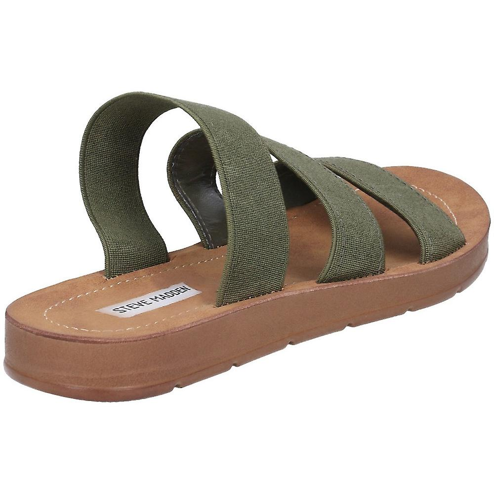 Steve Madden Womens Pascale Flat Slip On Slider Sandals