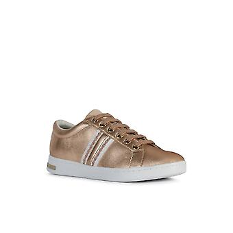 Geox Womens D Jaysen A Casual Lace Up Trainer Rose Gold