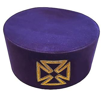 Masonic knight templar purple grand prior cap hat crown
