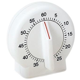 Atlanta 287 Krótki zegar krótkotrwały Budzik Zegar kuchenny Zegar analogowy biały okrągły