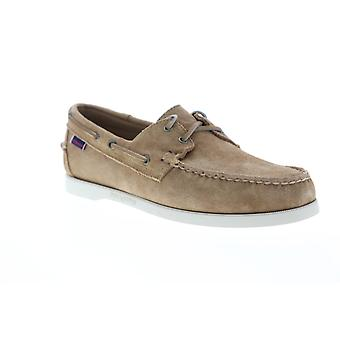 Sebago Portside Suede  Mens Brown Casual Lace Up Boat Shoes