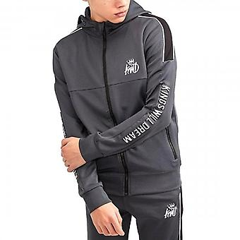 Kings Will Dream Junior Nisha Grey Reflective Zip Up Hoody Sweatshirt J464