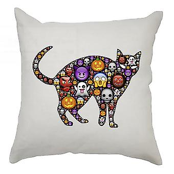 Emoji Cushion Cover 40cm x 40cm Cat 1