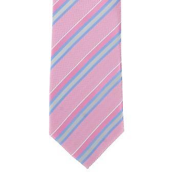 Michelsons Londyn teksturowanej krawat poliestrowy pasek - różowy