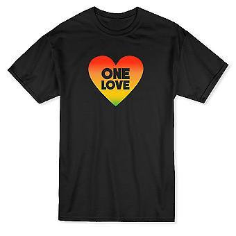 & اقتباس حب واحد & اقتباس داخل Rastafari القلب الرسومية الرجال & apos;ق تي شيرت