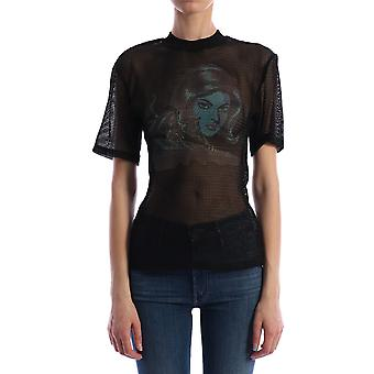 Off-white Owad113s20fab0011045 Women's Blue Cotton T-shirt