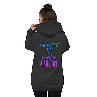Unisex Zip Up Hoodie | Without Music, Life Would Be A Mistake