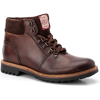 Base london mens fawn queimado lace up boot brown