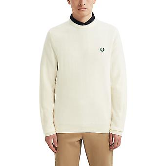 Fred Perry Men's Classic Merino Jumper Ecru