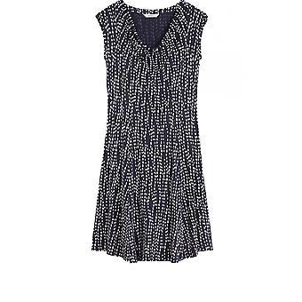 Sandwich Clothing Navy & White Spot Print Dress