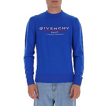 Givenchy Bm90d6406b426 Men's Blue Cotton Sweatshirt