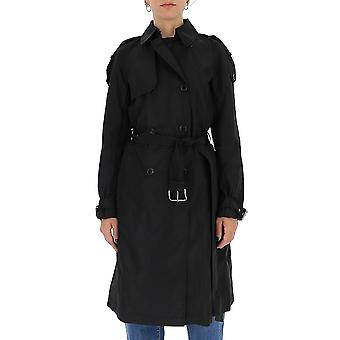Michael Por Michael Kors Ms02j5mgv2001 Mujeres's Negro Poliéster Trench Coat
