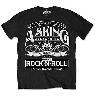 Chiedendo Alexandria Rock N' Roll ufficiale Tee T-Shirt Mens Unisex