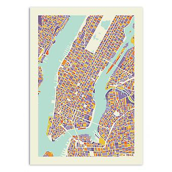 Art-Poster - New York City Rainbow map - Muzungu