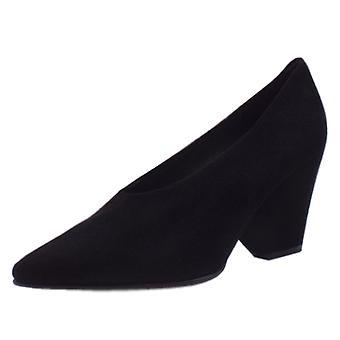 Peter Kaiser Lijana Chaussures de cour Wedge élégants en suède noir