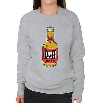 The Simpsons Duff ölflaska kvinnors tröja