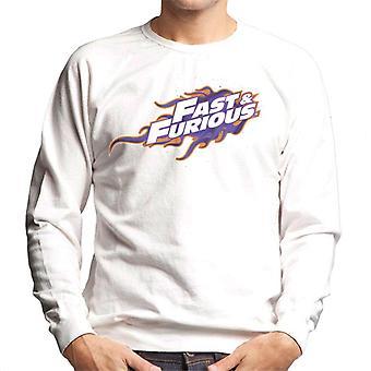 Nopea ja raivoissaan oranssi violetti logo miesten ' s College pusero