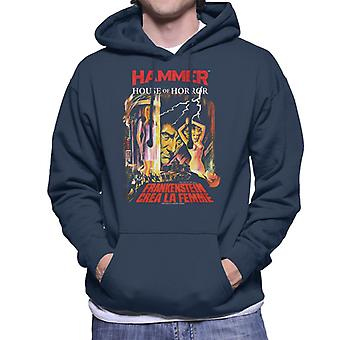Hammer Frankenstein Crea La Femme Poster Men's Hooded Sweatshirt