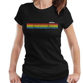 Activision Distressed Rainbow Stripe Women's T-Shirt