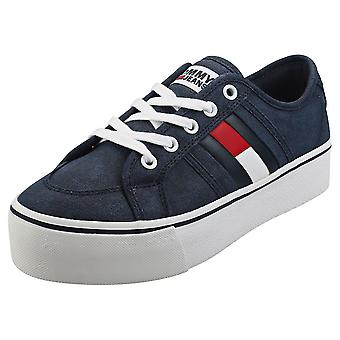 Tommy Jeans Flatform Flag Sneaker Womens Flatform Trainers in Navy
