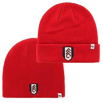 Fulham FC 47 Brand Official Football Gift Mens Knitted Bronx Beanie Hat