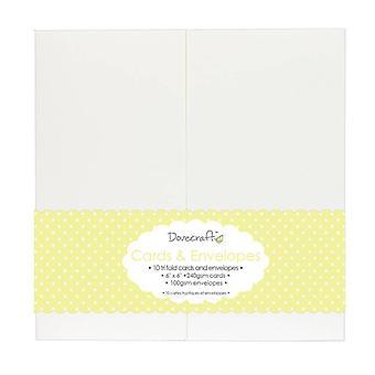 Dovecraft 10 Tri Fold 6x6 Kort &;; Konvolutter