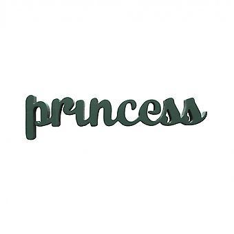 Rebecca Meubles Plaque décorative Écriture Princess Wood 10x40x1.2