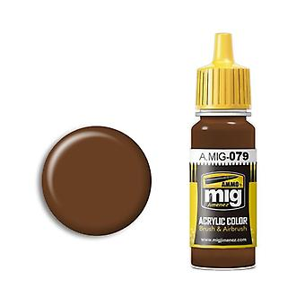 Ammo by Mig Acrylic Paint - A.MIG-0079 Clay Brown (17ml)