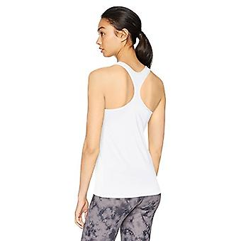 Brand - Core 10 Women's Fitted Run Tech Mesh Racerback, White, Large